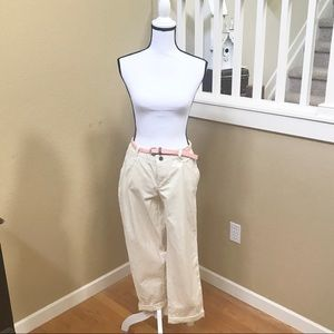 NWOT! SONOMA CROPPED ROLL-CUFF PANTS